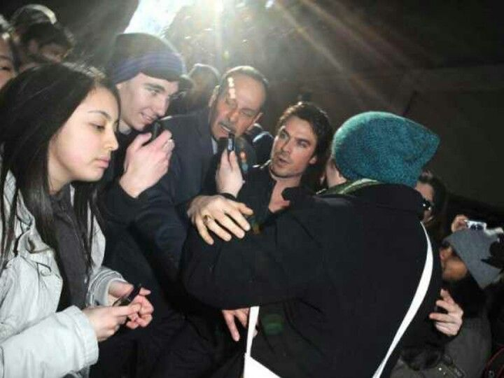 Poor Ian ~ Always being mobbed