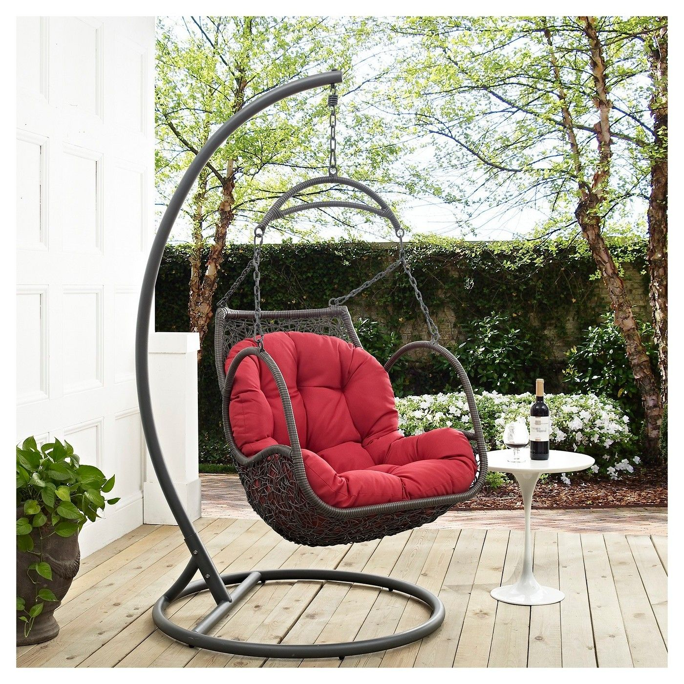 Arbor Outdoor Patio Wood Swing Chair  Modway  Image