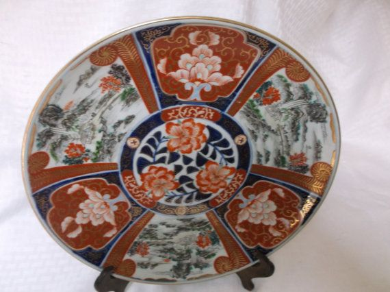 Antique Imari Japanese Signed Charger by VelsVintage on Etsy, $240.00