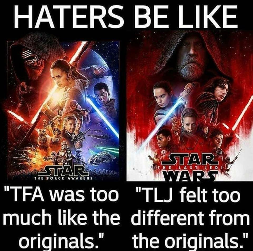 Star Wars Fans Sarcasm Quotes In Effect Ruin Star Wars And Need To Just Shut Up And Realize Maybe They Are Star Wars Humor Star Wars Memes Star Wars Fandom