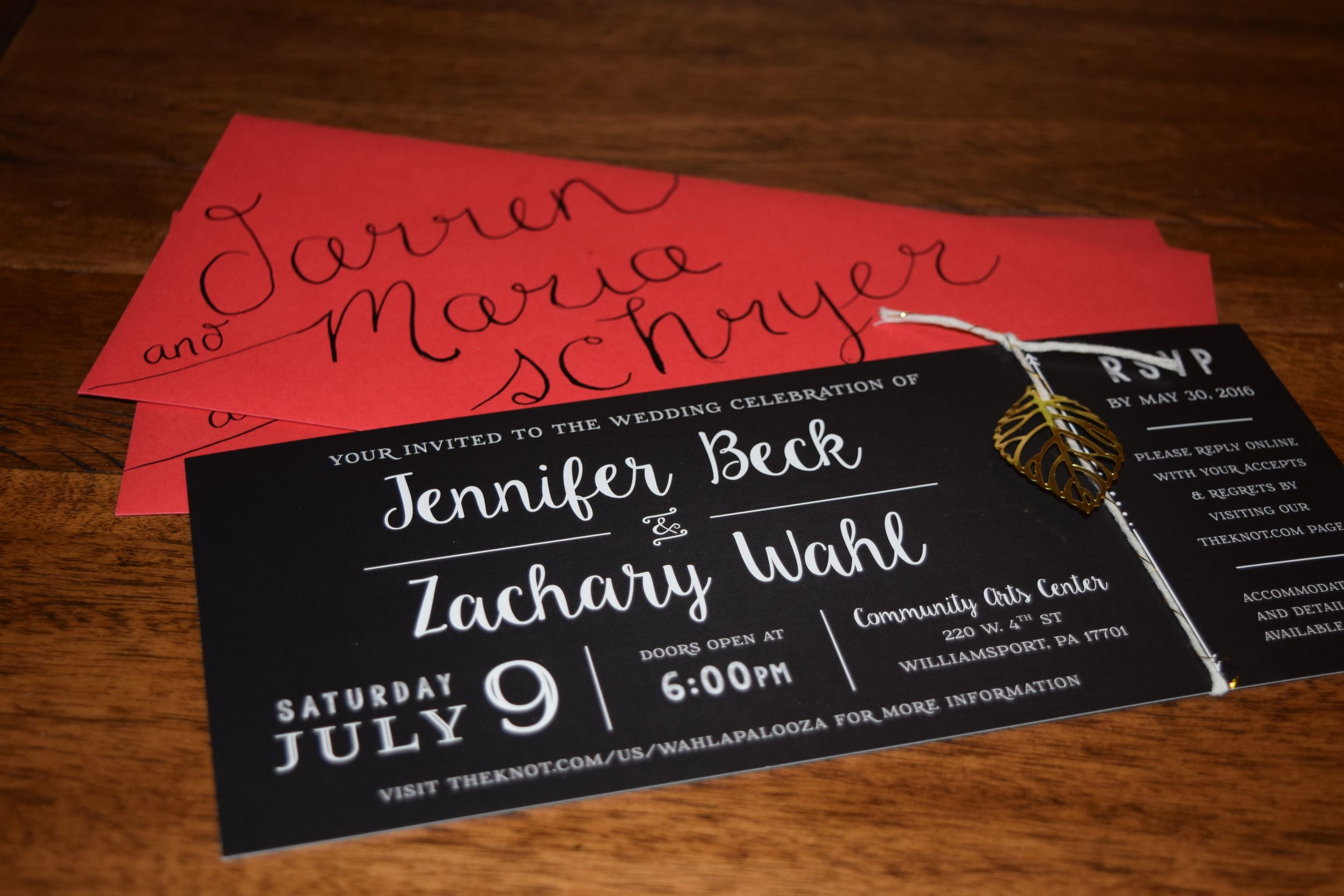 chalkboard | black and white wedding invitation | red envelopes ...