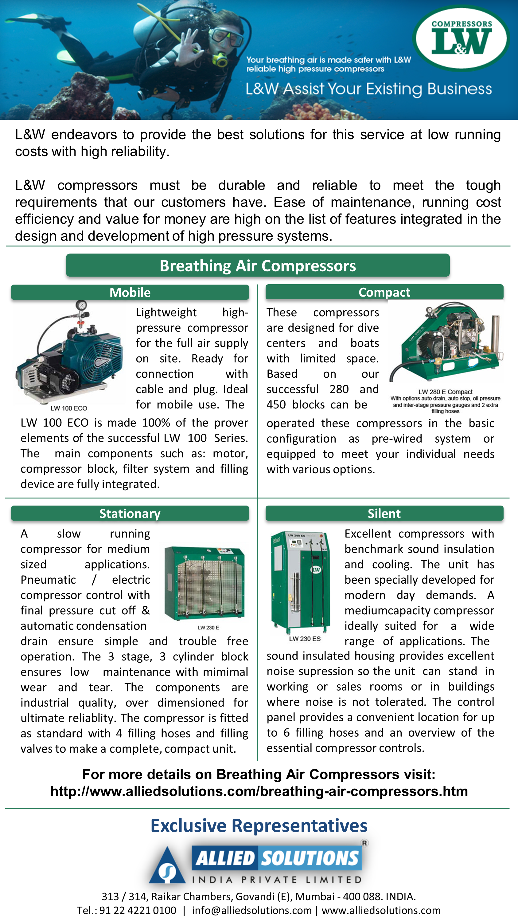 L&W Breathing Air Compressors Allied Solutions India