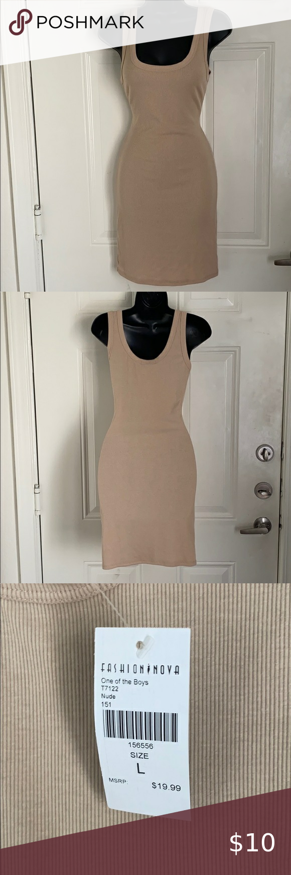 Tan Bodycon Dress