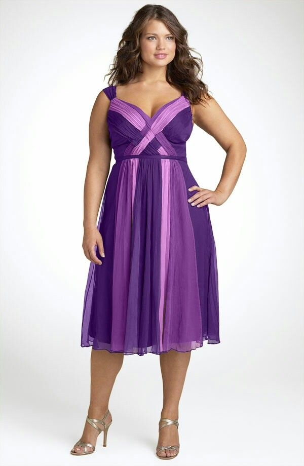 bridesmaid dresses for overweight purple - Google Search | dress i ...