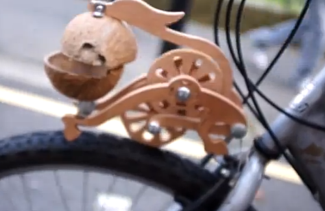 Coconut-based contraption makes your bike sound just like a