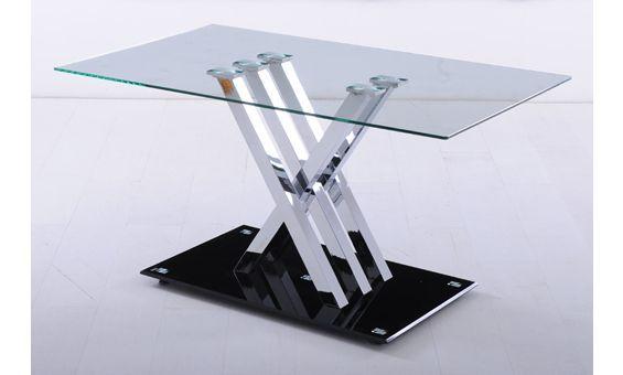 Mesa De Comedor Con Estructura Cromada Y Tapa Y Base De Cristal Decor Home Decor Furniture