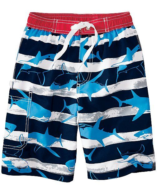 2b95450ae1 Board Shorts With UPF 50+ from #HannaAndersson. | Baby Love ...