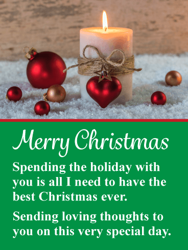 You Re All I Need Romantic Merry Christmas Card Birthday Greeting Cards By Davia Christmas Greetings Messages Happy Christmas Greetings Merry Christmas Card