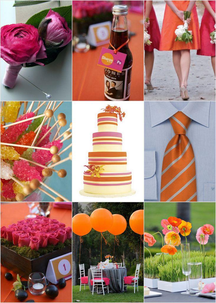 Pink Orange Wedding Theme Images - Wedding Decoration Ideas