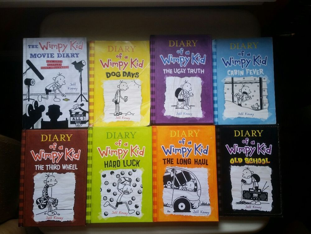 Diary of a wimpy kid chapter book lot of 8 jeff kinney 4 5