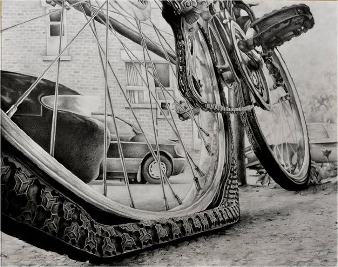 Another RISD bike drawing - I couldn't find the artist ...