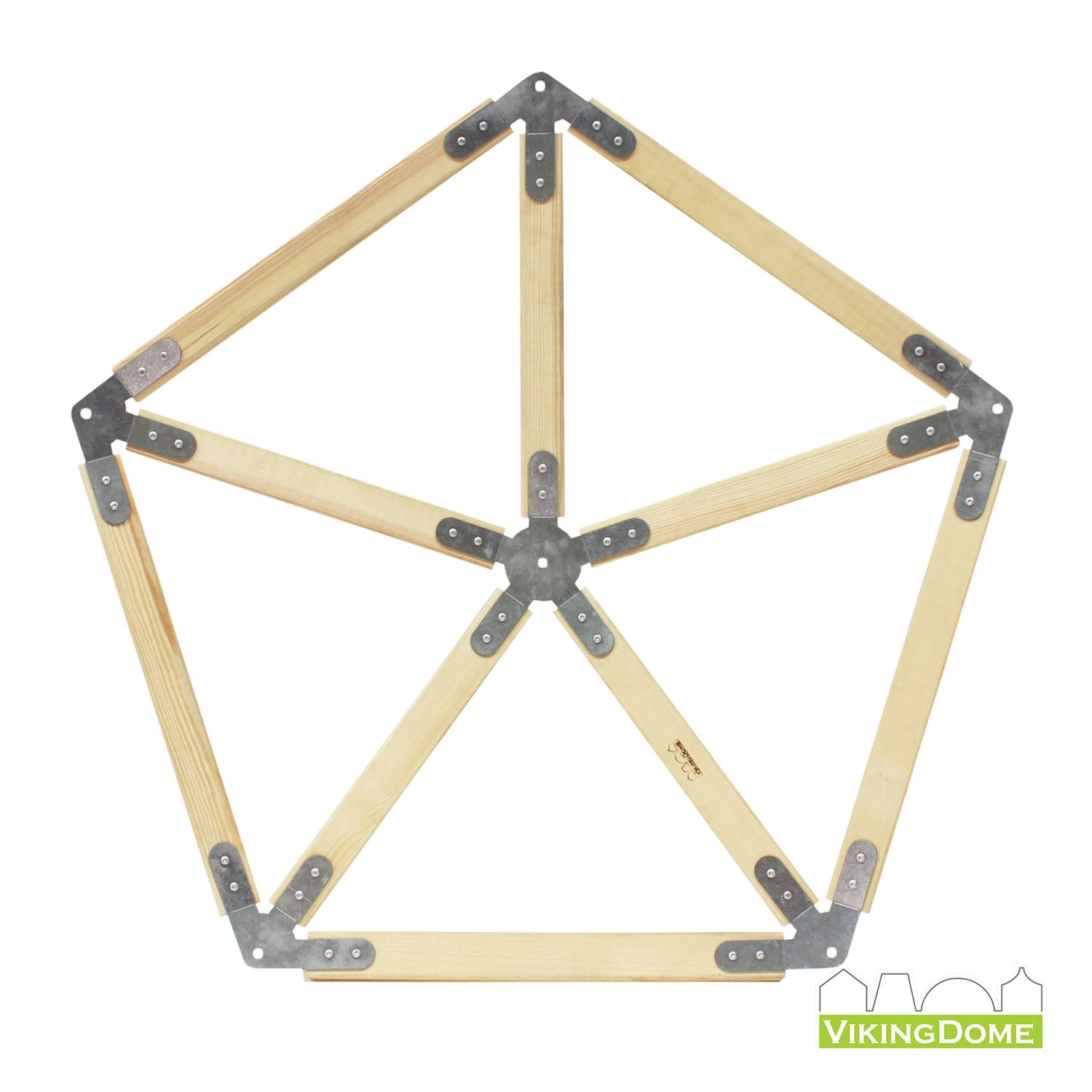2x6 Heavy Duty Wood Geodesic Hub Kit: Vikingdome Dome Frame System Star With Wood (5
