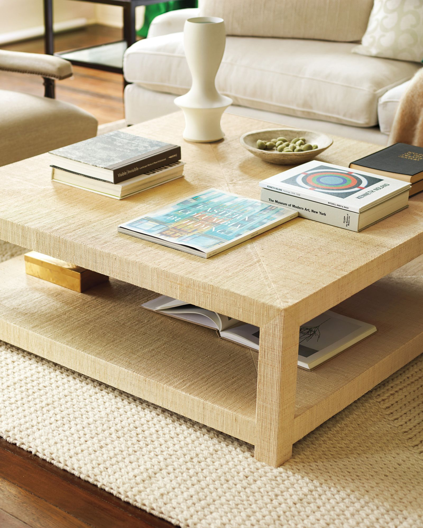 Raffia Cocktail Tableadds A Great Texture To The Roomi Prefer Custom Living Room Tables Design Ideas