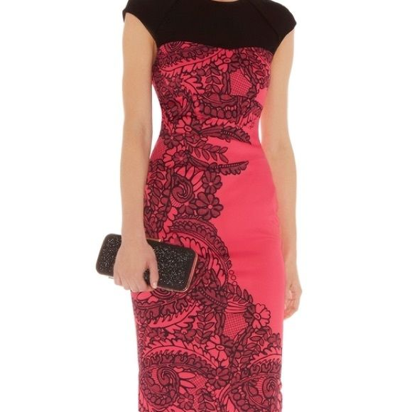 Karen Millen lace print dress Karen Millen lace print dress Karen Millen Dresses Midi