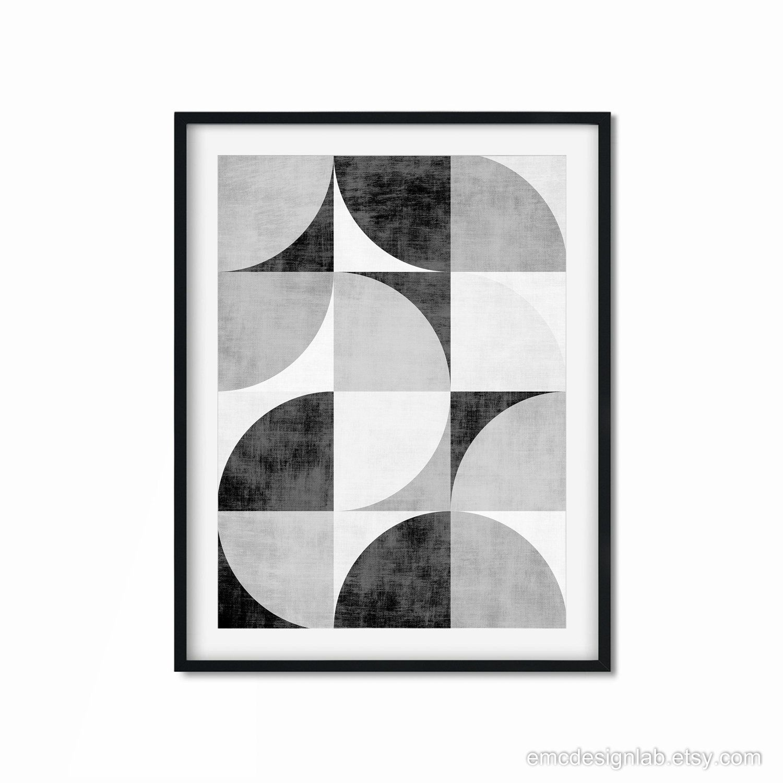 Black and White Abstract Brush Stroke Set of Two Wall ArtMinimalistPrintable Wall ArtInstant DownloadBlack White GeometricNordic Art