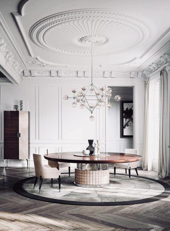 Vous Devez Voir Cette Merveilleuse Salle A Manger Avec Des Meubles De Luxe Pour Vous Aider A Ameliorer Luxury Home Decor Interior Design Modern Interior Design
