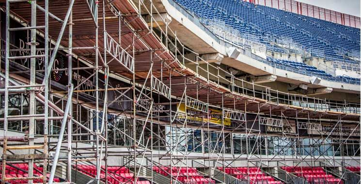 Sunbelt Rentals provides scaffold services for virtually any application requiring access to new or existing structures. Whether you are working on a highly specialized industrial job or a commercial construction project, we offer comprehensive solutions that include design, erection and dismantling services. 800-667-9328 #sunbeltrentals #equipmentrentals