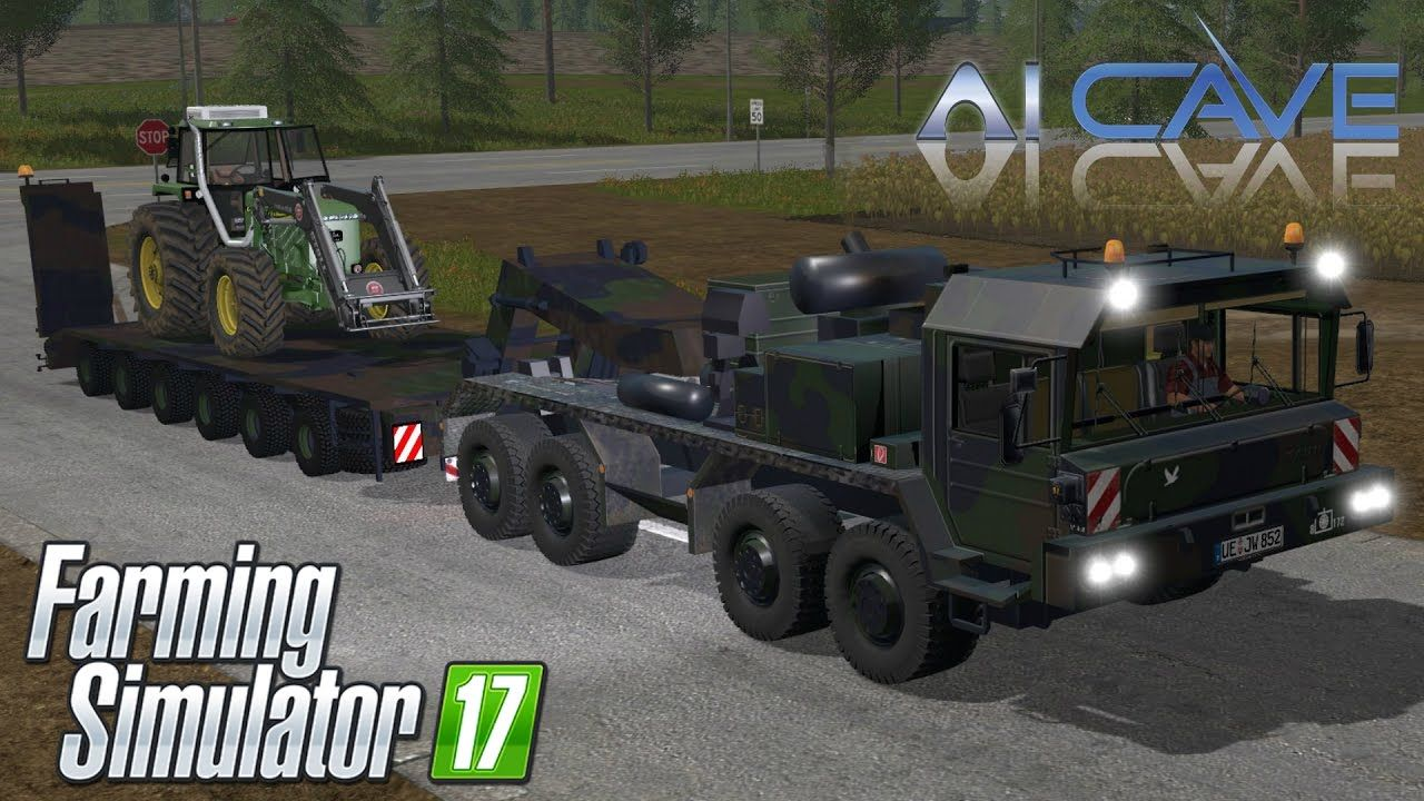 Farming simulator 2017 mods bundeswehr army truck and trailer review