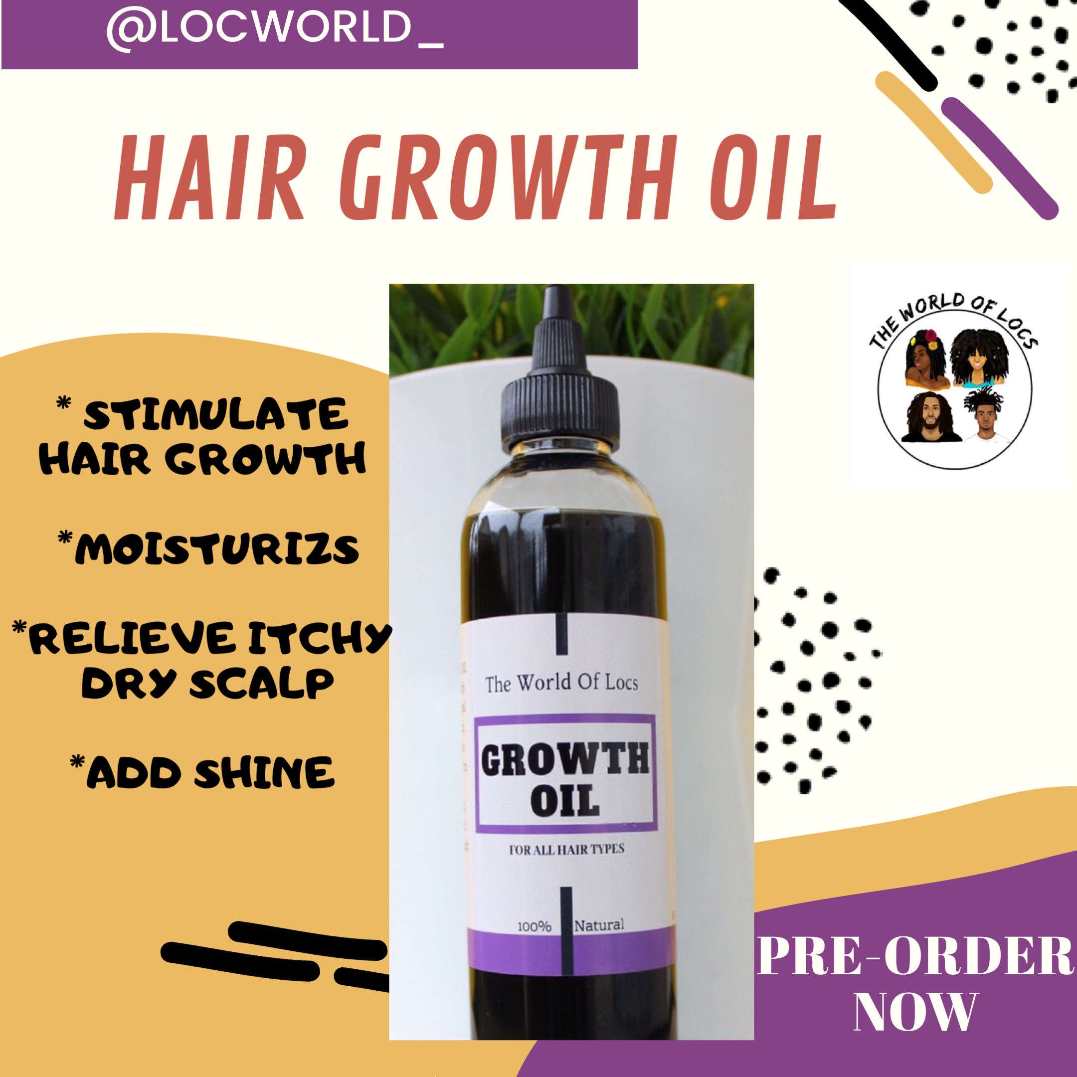 Wild Growth Oil (With images) Growth oil, Dry itchy scalp