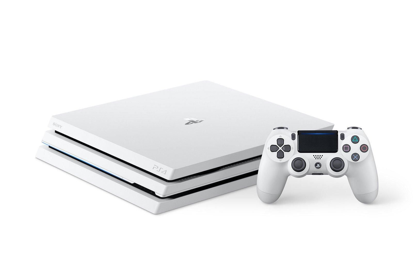 Playstation 4 Pro Glacier White 1tb Ps4 Pro Ps4 Console Ps4