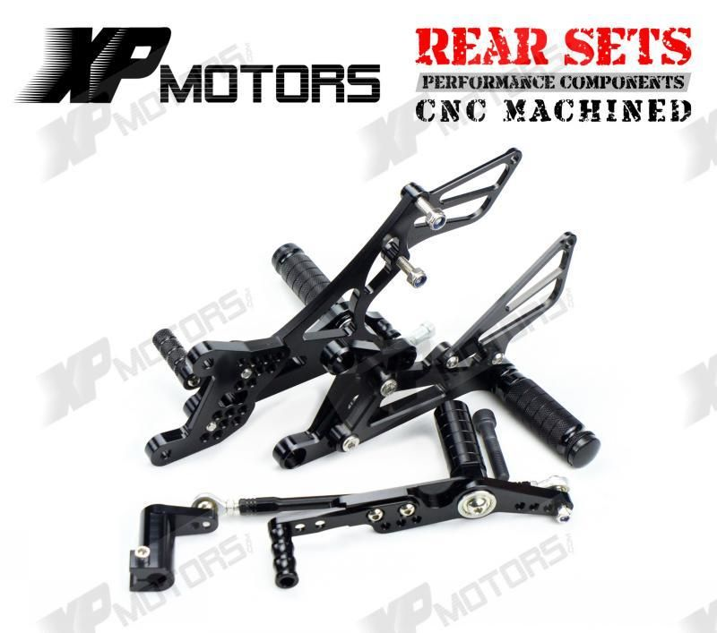 Rearsets Rear Sets Footpegs CNC Adjustable For Yamaha Yzf R1 2007-2008