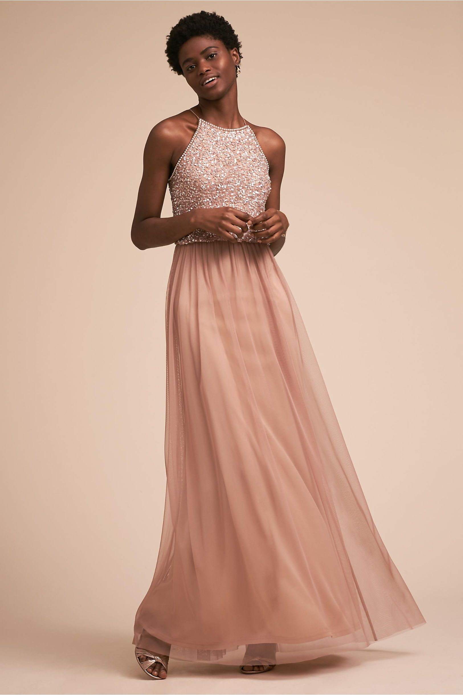 968833a9d985 BHLDN s Adrianna Papell Scarlett Dress in Rose Gold