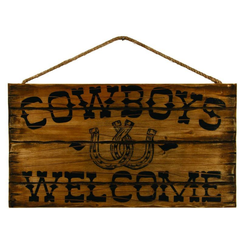 Cowboys Welcome Sign Wooden Signs Diy Wooden Signs Western Signs