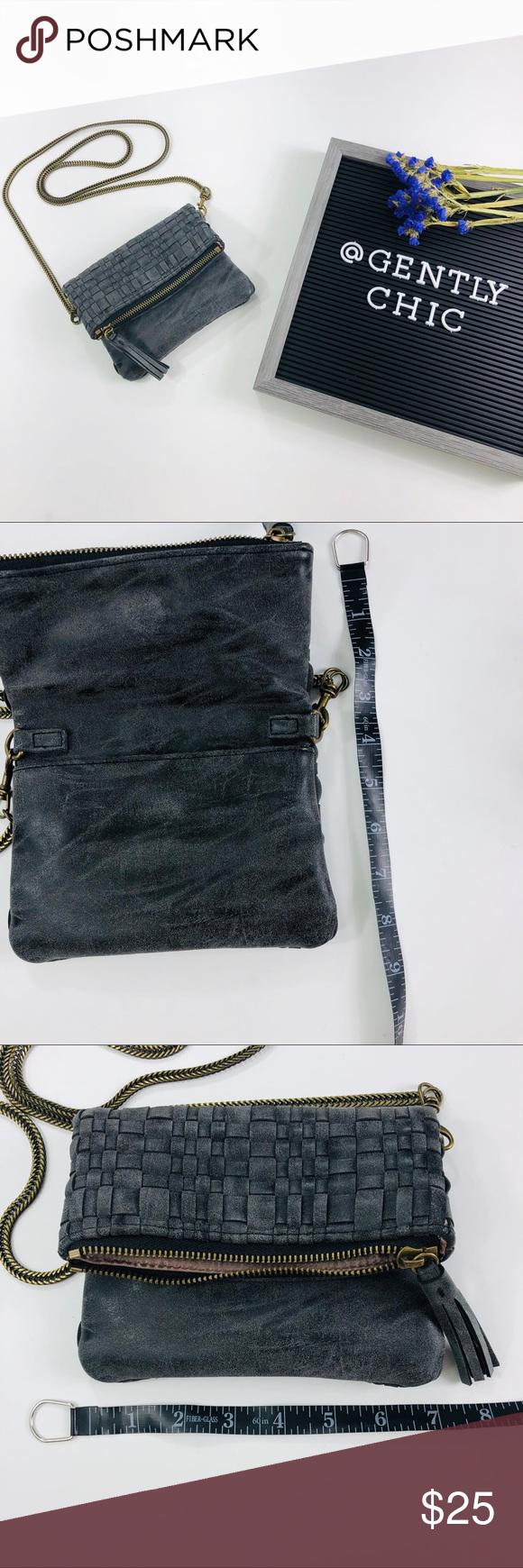9b1e48f96d6f Deux Lux • Gray Basketweave Mini Crossbody Bag Deux Lux Gray basketweave Small  crossbody bag.