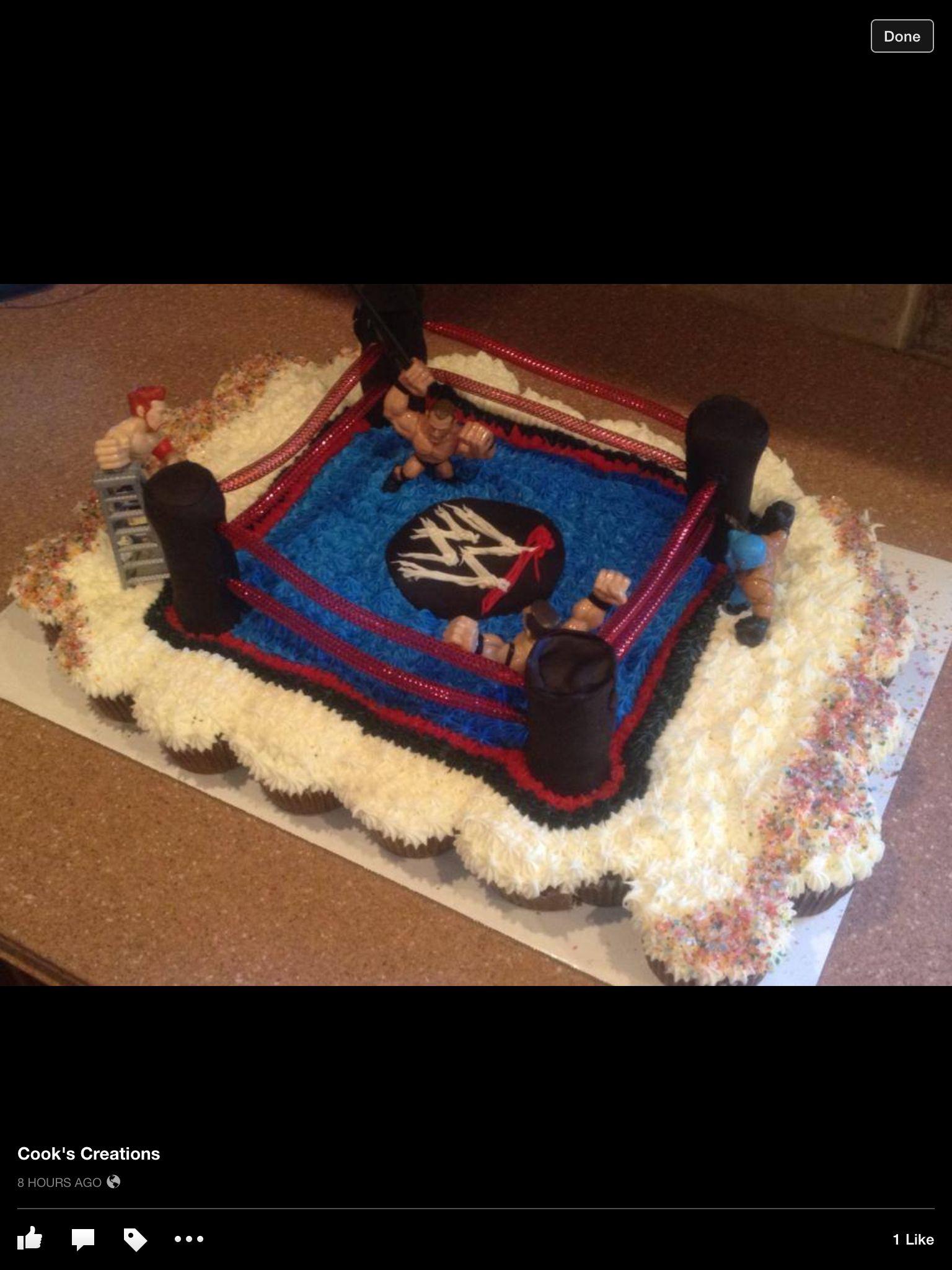 Wrestling Cupcake Cake