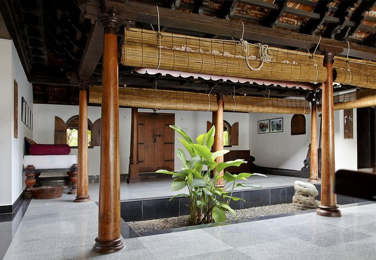 kerala interior courtyard landscape design Pinterest
