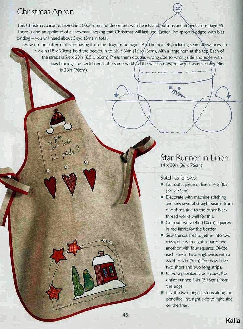PiluKa-Retales de Colores: DELANTAL PATRÓN | Navidad | Pinterest ...