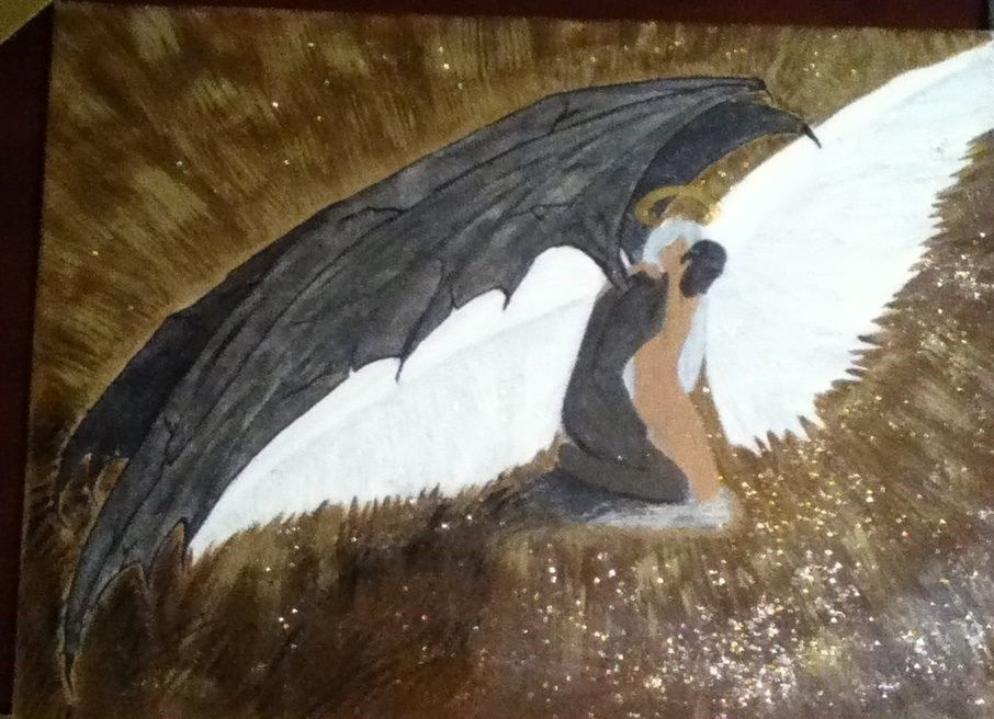 La Lumiere De L Amour Et Du Pardon Par Nancy Paul 1er Tableau Peinture Painting Art Demon