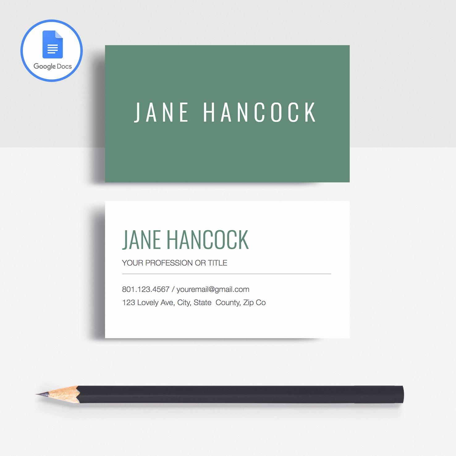 Card Template Docs Inspirational Jane Hancock In