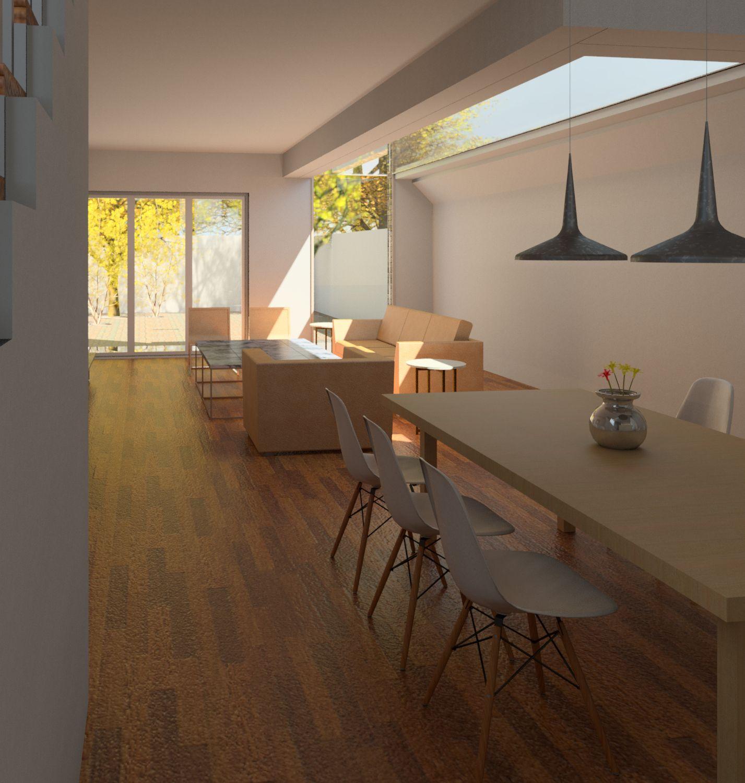 Melrose Gardens Living And Dining Room Render Revit By Shape