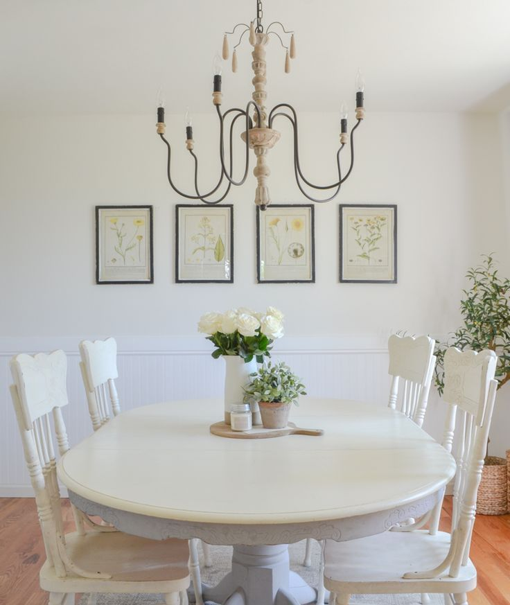 Botanical Prints + A Simple Dining Room French Country  Farmhouse