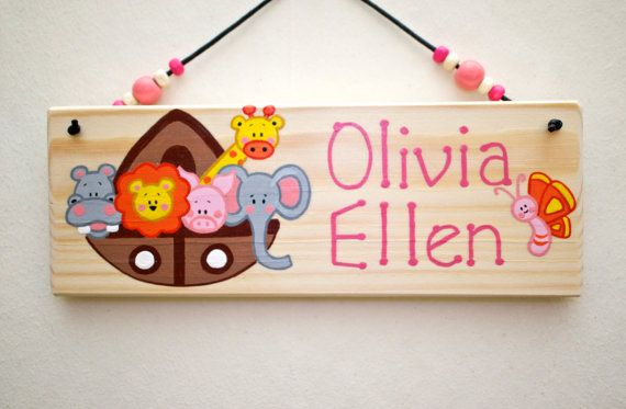 Personalised Wall Door Plaque Noah S Ark By Inthewitchwood