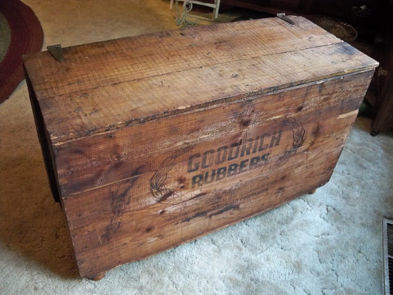Shipping Crate Coffee TABLE Storage Box By GoodRich RuBBeRs Standard - Shipping crate coffee table