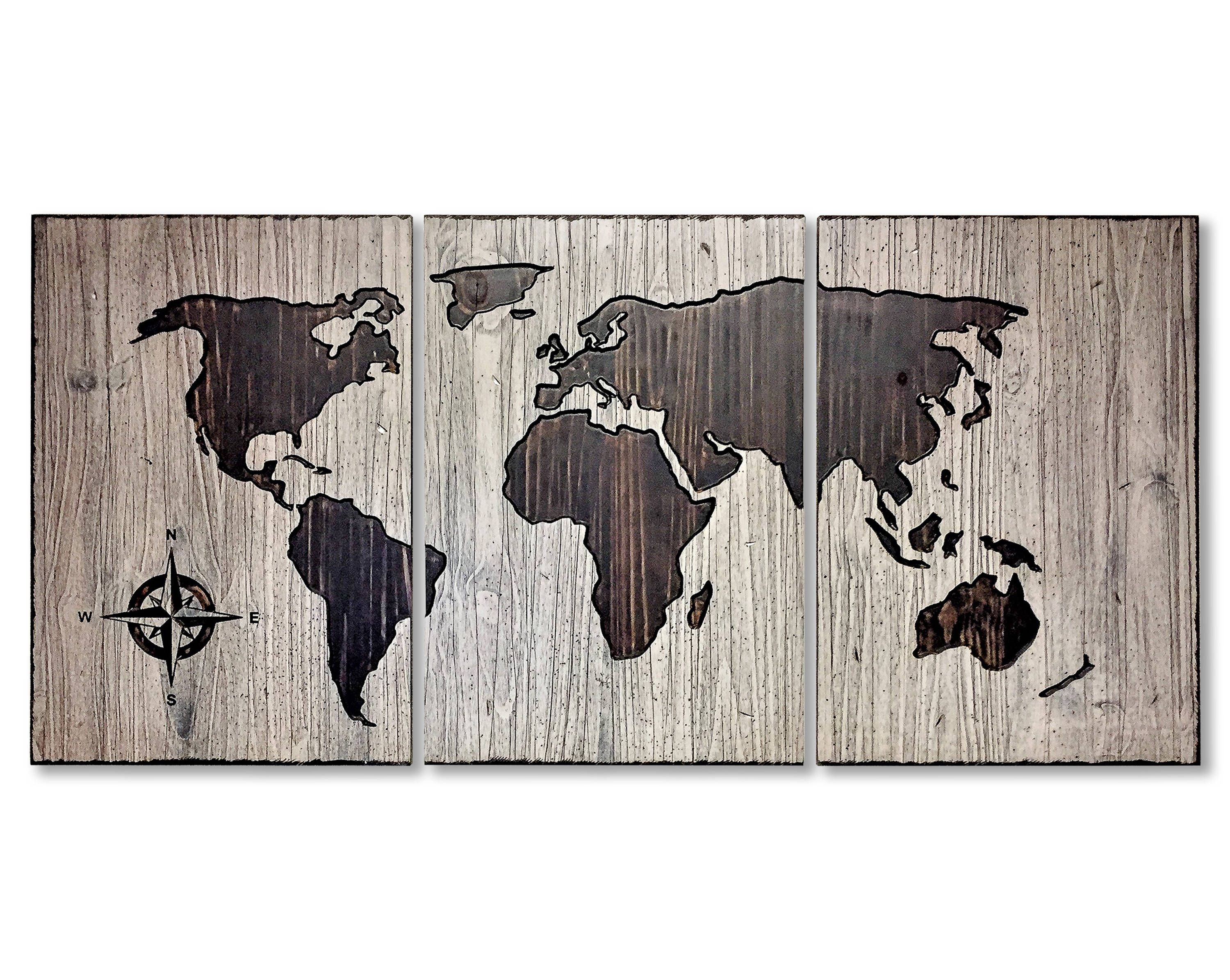 Art for house home wall decor rustic world map wood wall art art for house home wall decor rustic world map wood wall art gumiabroncs Image collections