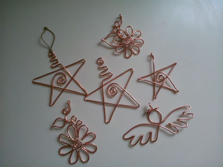 Wire Stars Angels Flower Christmas Pinterest Angel Star And - Diy copper stars for christmas decor