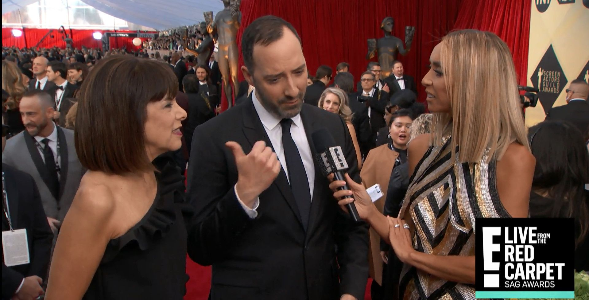 Tony Hale Brings His Drama Teacher To The 2018 Sag Awards And More Memorable Moments Tony Hale Drama Teacher Sag Awards