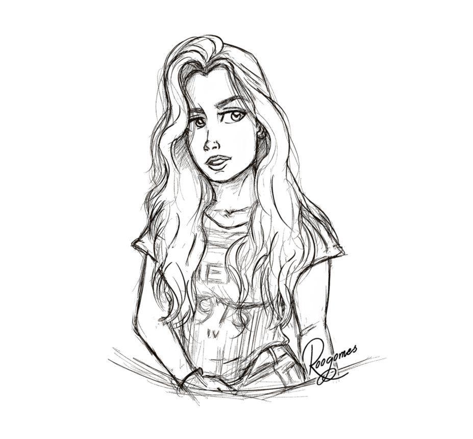 how to draw camila cabello easy
