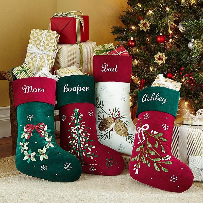 Ribbon Velvet Stocking Stuff to Buy Christmas, Christmas