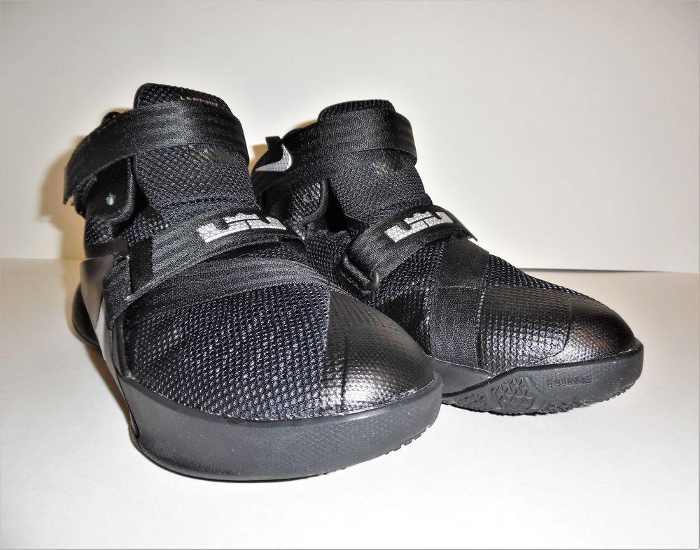 f5444325 Nike LeBron James Soldier IX Black/Silver Boys Basketball Shoes 776471-001  Sz 4Y #Nike #BasketballShoes