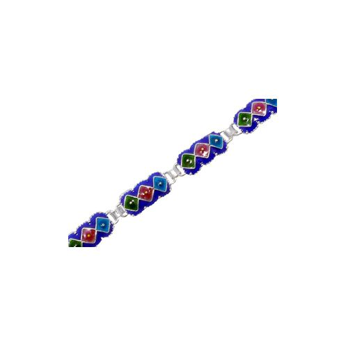 Cloisonne bracelet for youth and peace in 925 sterling silver.