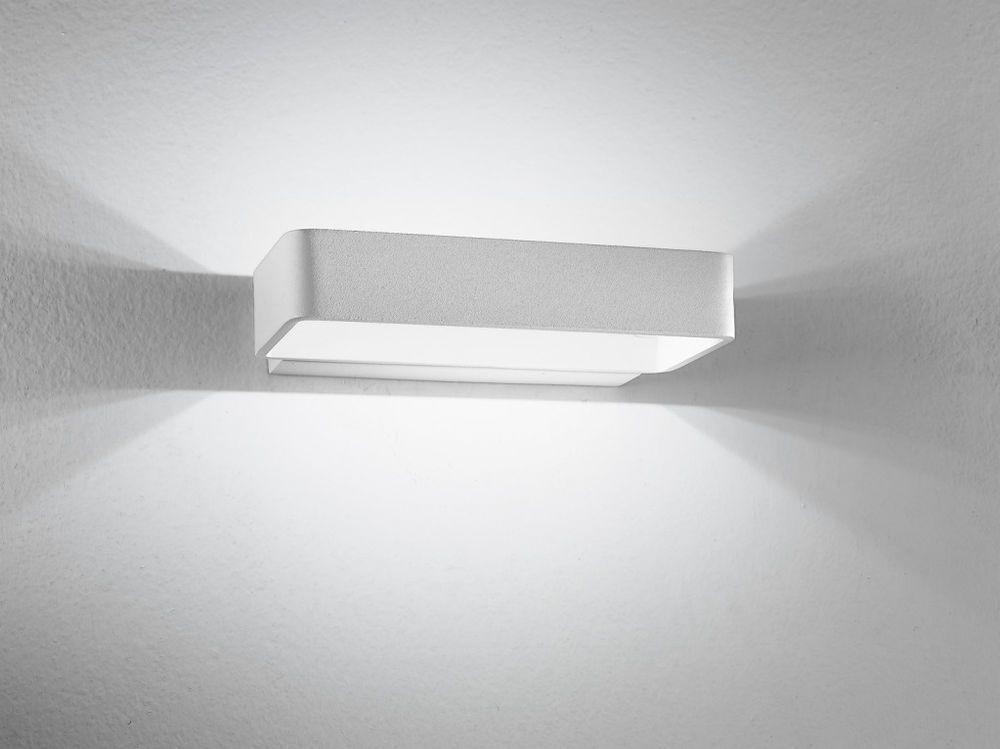 Applique lampada parete led design moderno acciaio bianco luce