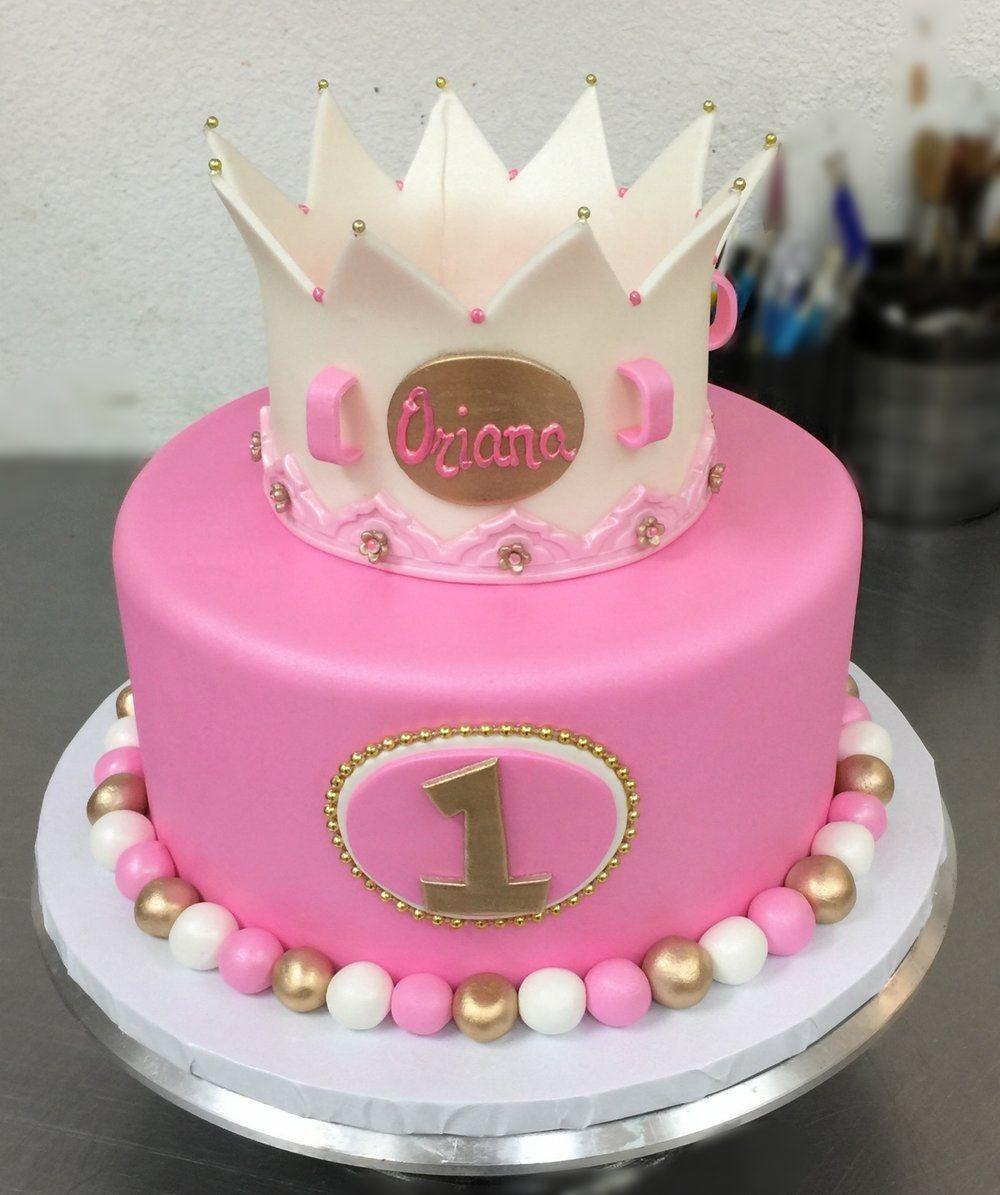 Princess Crown Cake  Birthday Cakes  Pinterest  Princess crown cake ...