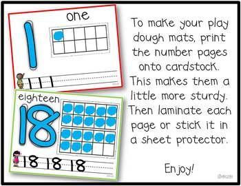 Playdough Mats Numbers 1 20 Playdough Early Years Maths Playdough Mats