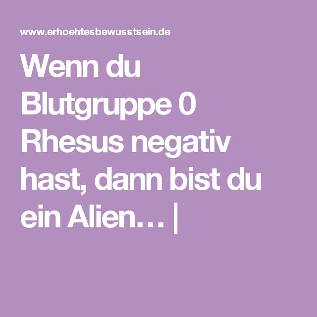 Blutgruppe 0 Rhesus Negativ Selten