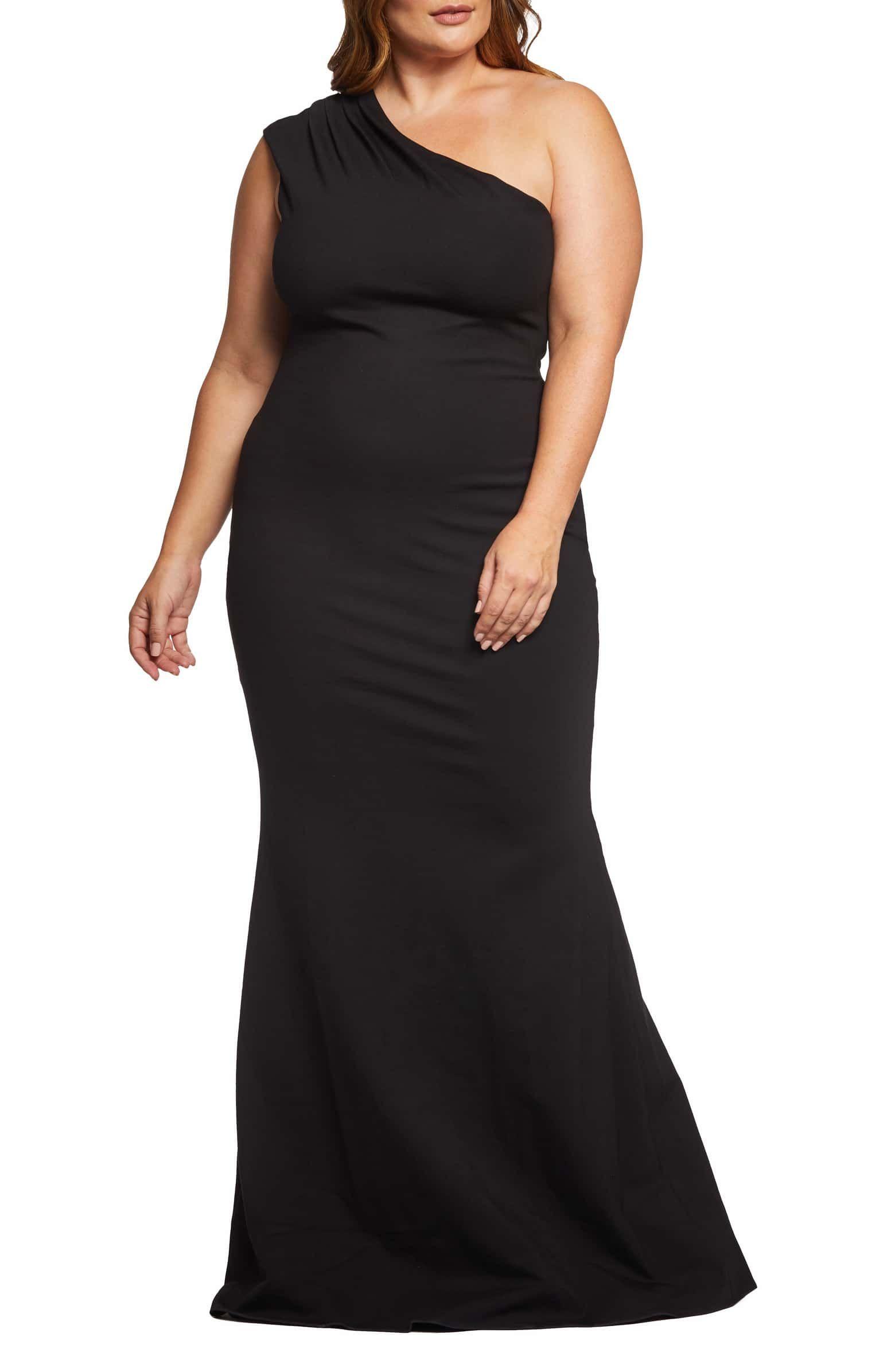 Dress The Population Eva One Shoulder Gown Plus Size Nordstrom Evening Dresses Plus Size Formal Dresses Stylish Formal Dresses [ 2392 x 1560 Pixel ]