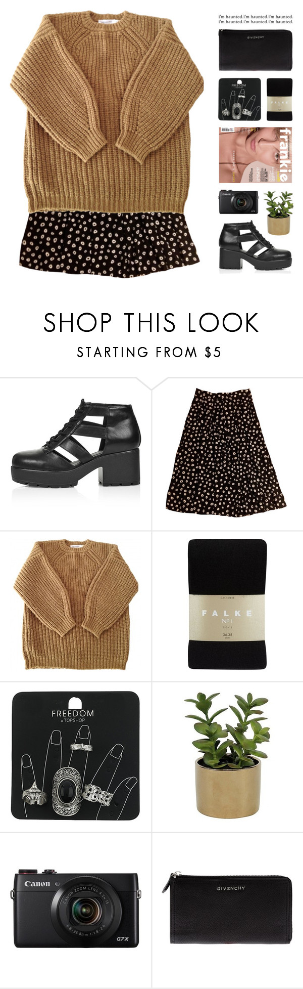 """""""Mayra"""" by chelseapetrillo ❤ liked on Polyvore featuring Topshop, Étoile Isabel Marant, Falke, Threshold and Givenchy"""